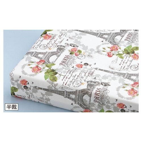 ラヴィアンローズ 半裁 500枚【店舗備品 包装紙 ラッピング 袋 ディスプレー店舗】