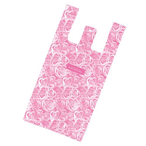 【まとめ買い10個セット品】 レジ袋 ローズ 25×49(35)×横マチ14 3000枚【店舗什器 小物 ディスプレー ギフト ラッピング 包装紙 袋 消耗品 店舗備品】