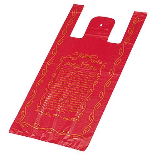 【まとめ買い10個セット品】 シンプルスタイル レッド 30×55cm 2000枚【 送料無料 】【 ラッピング用品 包装 ラッピング袋 レジ袋 カラー 消耗品 かわいい 業務用 】
