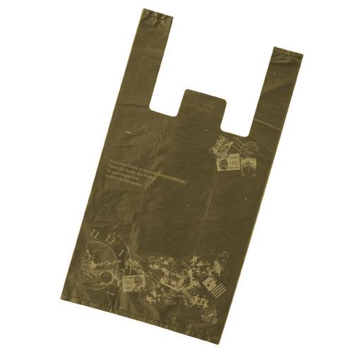【まとめ買い10個セット品】 レジ袋 アンティーク 24×45(31)×横マチ14 4000枚【店舗什器 小物 ディスプレー ギフト ラッピング 包装紙 袋 消耗品 店舗備品】
