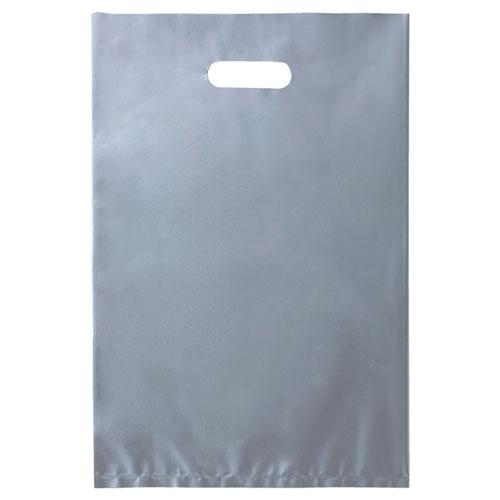 【まとめ買い10個セット品】 ポリ袋ソフト型 シルバー 22×35cm 100枚 レジ袋【ラッピング用品 包装 ラッピング袋 ポリ袋 レジ袋 カラー 消耗品 業務用】