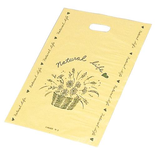 【まとめ買い10個セット品】 ナチュラルライフポリ袋 25.5×36.5cm 100枚【 ラッピング用品 包装 ラッピング袋 ポリ袋 レジ袋 カラー 消耗品 かわいい 業務用 】