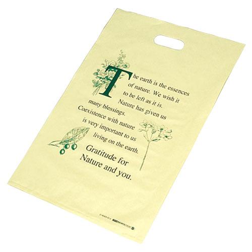 【まとめ買い10個セット品】 エコロジーポリ袋 40×50cm 50枚 レジ袋【ラッピング用品 包装 ラッピング袋 ポリ袋 レジ袋 カラー 消耗品 かわいい 業務用】