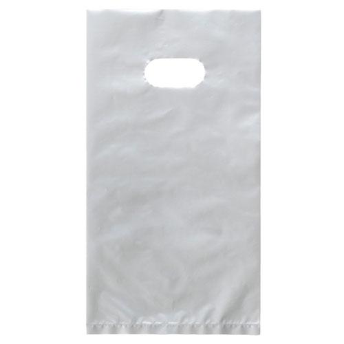 【まとめ買い10個セット品】 ポリ袋ハード型 薄口 ローコストタイプ シルバー 14.5×28(B6) 4000枚【店舗備品 包装紙 ラッピング 袋 ディスプレー店舗】