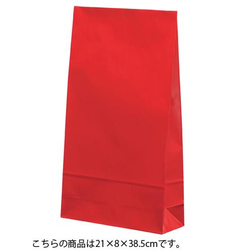 【まとめ買い10個セット品】 ギフトファンシーバッグ 赤 21×8×38.5 50枚【店舗備品 包装紙 ラッピング 袋 ディスプレー店舗】