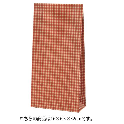 ギンガムチェック レッド 16×6.5×32 1500枚【店舗備品 包装紙 ラッピング 袋 ディスプレー店舗】