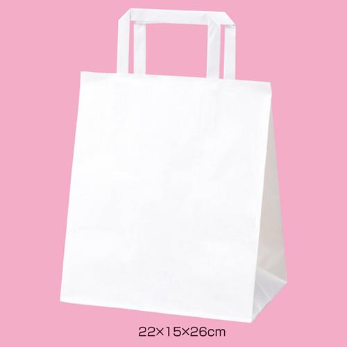 丸ひもタイプ 26×18×28.5 50枚 【まとめ買い10個セット品】 白無地 【店舗什器  小物 ディスプレー ギフト ラッピング 包装紙 袋 消耗品 店舗備品】