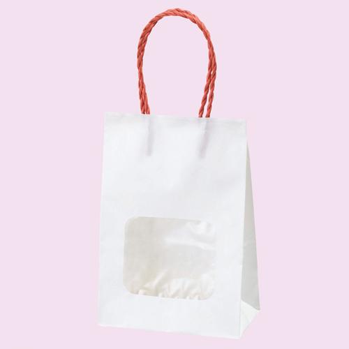 【まとめ買い10個セット品】 ウインドウミニバッグ 赤 100枚【店舗備品 包装紙 ラッピング 袋 ディスプレー店舗】