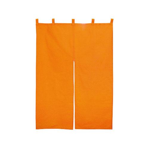 【まとめ買い10個セット品】 無地のれん(半間) 防炎 オレンジ【店舗什器 小物 ディスプレー POP ポスター 消耗品 店舗備品】