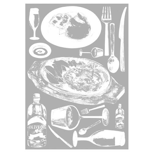 【まとめ買い10個セット品】 ウインドウシール レストラン レストラン【店舗什器 小物 ディスプレー POP ポスター 消耗品 店舗備品】