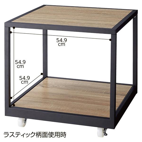 キャスター付き2段テーブルワゴン 【メイチョー】
