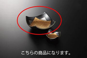 和食器 黒釉金彩 角刺身鉢 35K023-13 まごころ第35集
