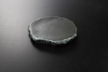 和食器 黒吹 岩高台皿(大) 35K126-15 まごころ第35集
