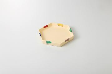 【まとめ買い10個セット品】和食器 五色短冊 六角皿 35K186-05 まごころ第35集 【キャンセル/返品不可】【開業プロ】