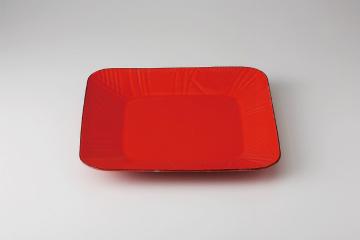 【まとめ買い10個セット品】和食器 ルーチェ赤 角プレート 35K430-27 まごころ第35集 【キャンセル/返品不可】【開業プロ】