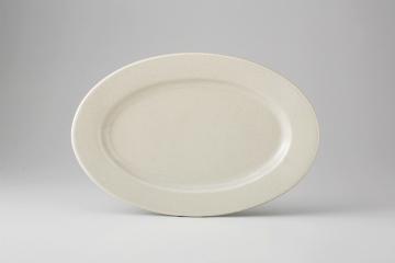 【まとめ買い10個セット品】和食器 セサミ 楕円リム皿 35F421-23 まごころ第35集 【キャンセル/返品不可】【開業プロ】
