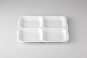 和食器 白洋陶 13吋四ツ仕切皿 35A478-08 まごころ第35集