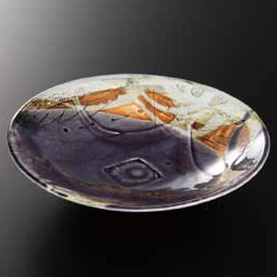 和食器 黒線彫紫 8.5皿 36K231-01 まごころ第36集 【メイチョー】
