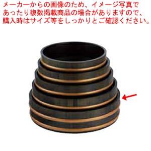 和食器 天然木盛込桶黒彩色 目皿付 尺4 36R526-55 まごころ第36集 【メイチョー】