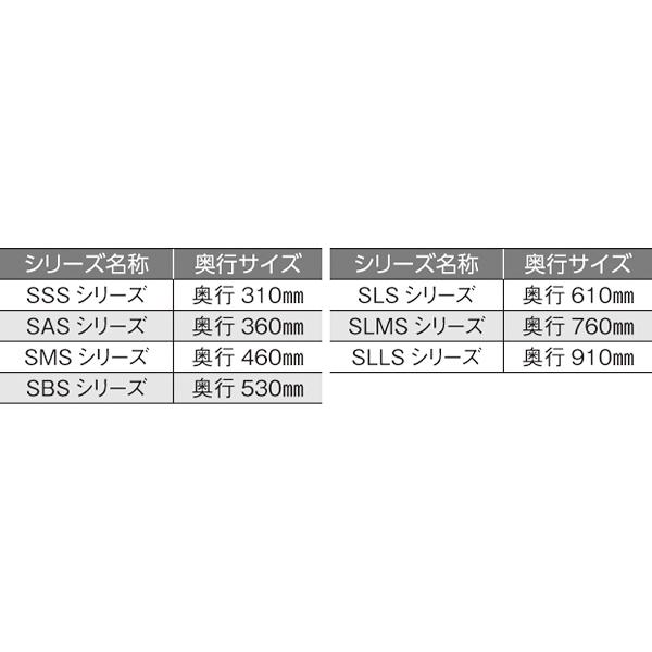 ステンレスエレクター SLLS910:PS2200:4段 【メイチョー】