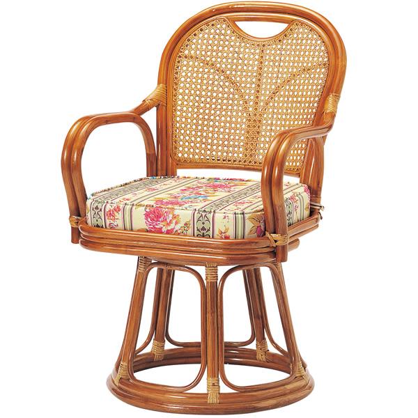 ラタン回転椅子 ハイタイプ〔SH440〕 R-440S【 椅子 洋風 カフェチェア イス チェア 座椅子 籐製 】【メーカー直送品/代引決済不可】【 メーカー直送/後払い決済不可 】