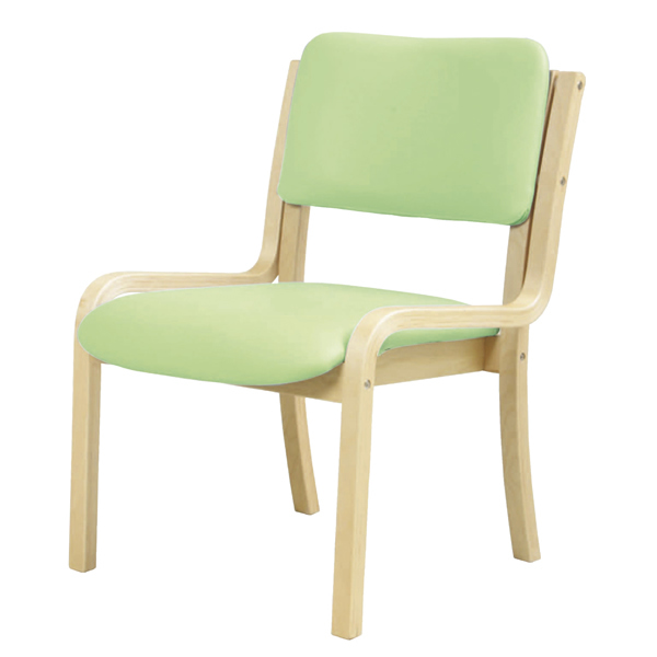 ダイニングチェア〔肘なし〕〔グリーン〕【 椅子 洋風 イス チェア パーソナルチェア 1人掛け 木製 】【メーカー直送品/代引決済不可】【 メーカー直送/後払い決済不可 】