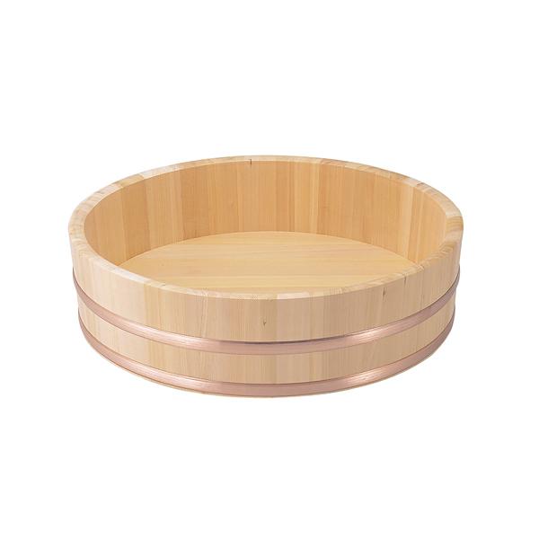 飯台(すし桶)さわら材 (銅タガ) 《外寸》 45cm 【メイチョー】