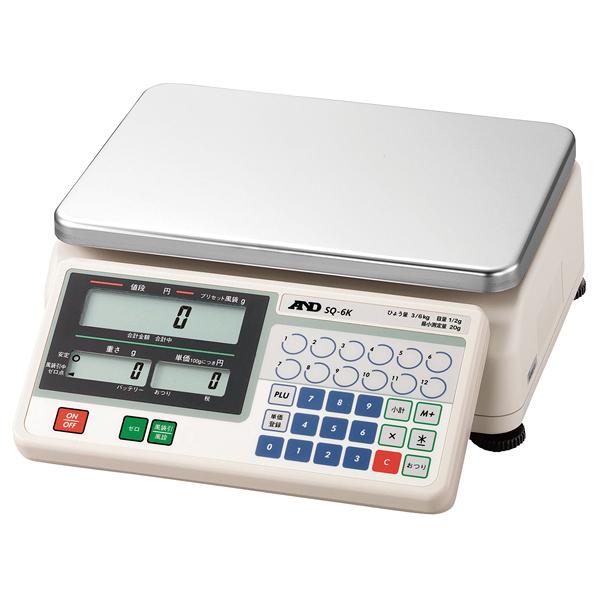 A&D デジタル料金はかり SQ(検定付) SQ-6K 【メイチョー】