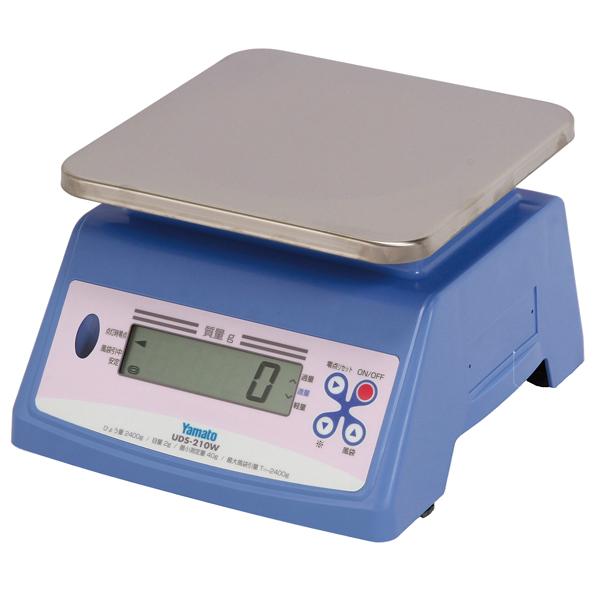 ヤマト 防水型 デジタル上皿自動はかり UDS-210W 10kg 【メイチョー】