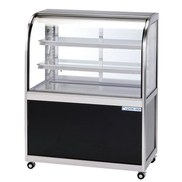 低温冷蔵ショーケース OHGF-Ta型(3段式・中棚2枚) OHGF-Ta-1800 両面引戸(W) 【メイチョー】