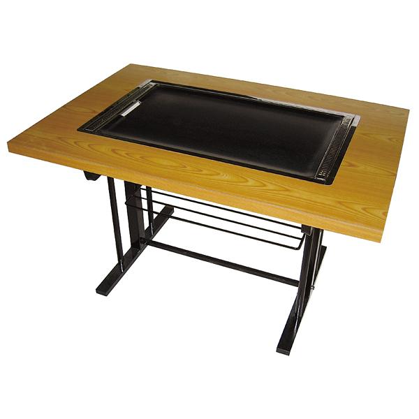 お好み焼きテーブル(スチール脚) IM-180P 13A 【メイチョー】