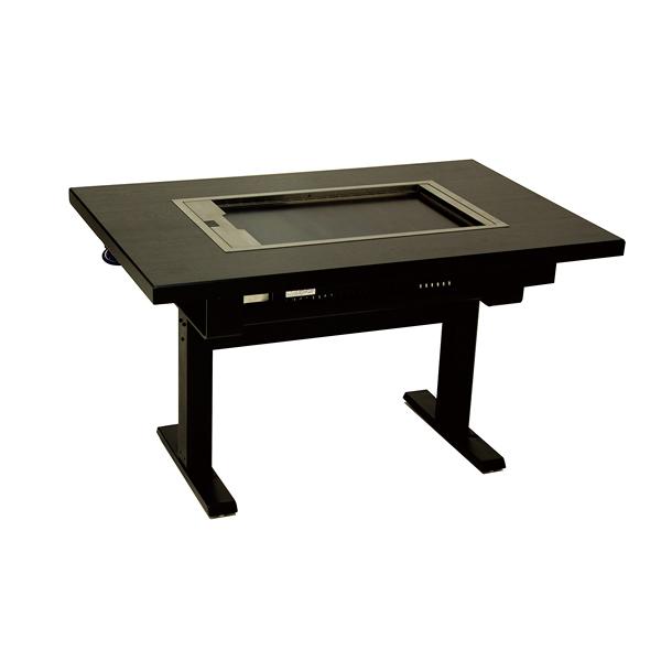TBGT型 鉄板テーブル(洋卓・スチール脚・天板:黒) TBGT3640SLP-LFA064-T09C 【メイチョー】