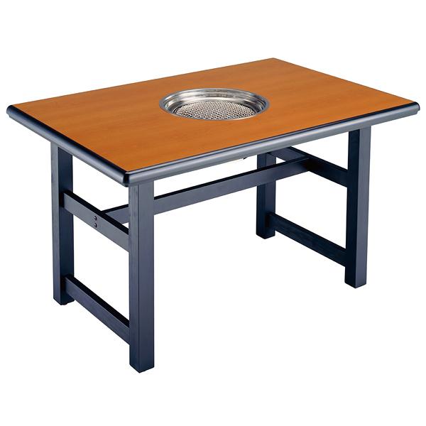 焼肉・バーベキューテーブル(洋卓・天板:木目) CTRK271TG-LWA097-T12C 【メイチョー】