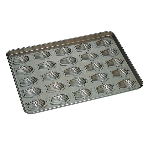 シリコン加工 貝型マドレーヌ型天板(25ヶ取) 【メイチョー】