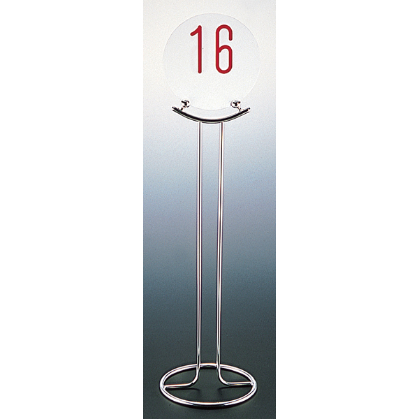 UK18-8 テーブルナンバースタンド (ドーナツベース) V型 【メイチョー】