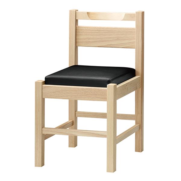 和風椅子 阿山N ナチュラルクリア 1055-1864(黒レザー) 【メイチョー】