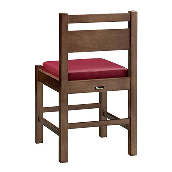 和風椅子 阿山D ダークブラウン 1155-1864(黒レザー) 【メイチョー】