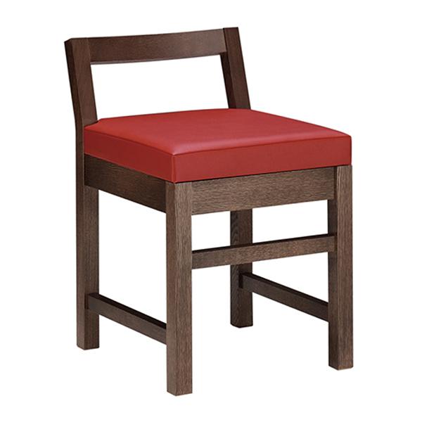 和風椅子 隼人D ダークブラウン 1184-1690(黒レザー) 【メイチョー】
