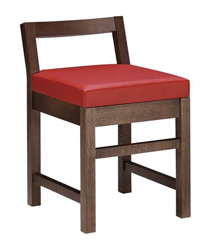 和風椅子 隼人D ダークブラウン 1184-1691(茶レザー) 【メイチョー】