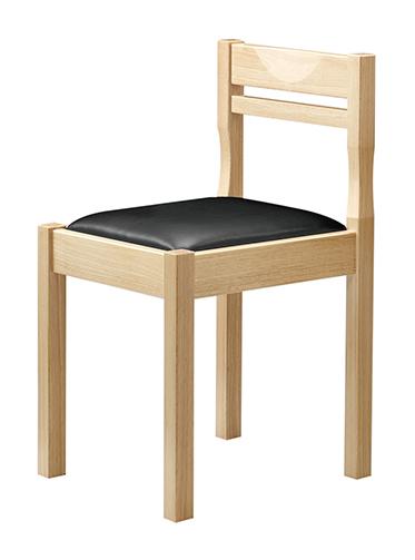 和風椅子 関羽N ナチュラルクリア 1006-1900(茶レザー) 【メイチョー】