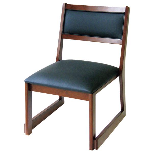 高脚座椅子(スタッキング式) 喜楽35B ブラウン 【メイチョー】