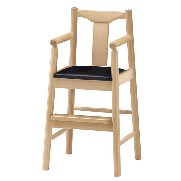 ジュニア椅子 パンダN ナチュラルクリア 1041-1755(シート:黒) 【メイチョー】