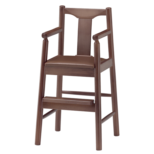 ジュニア椅子 パンダD ダークブラウン 1141-1755(シート:黒) 【メイチョー】