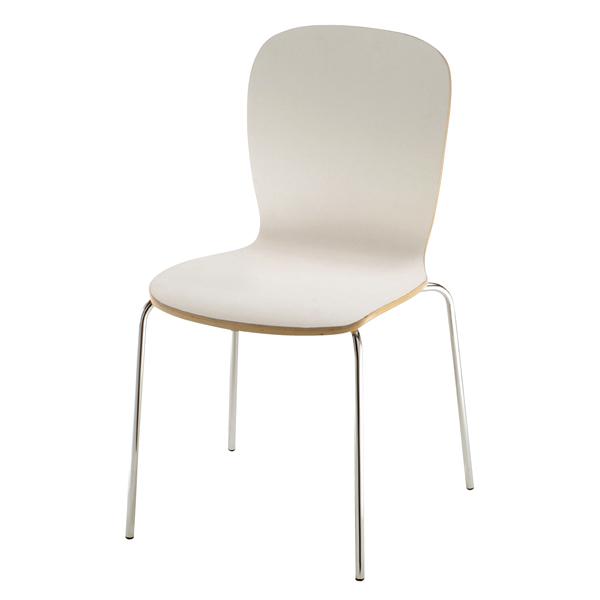 椅子 S458-11WH(背:ナチュラル) 【メイチョー】