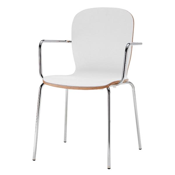 椅子 S458-41WH(背:ナチュラル) 【メイチョー】