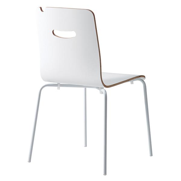 椅子 S472-11WW(背:ホワイト) 【メイチョー】