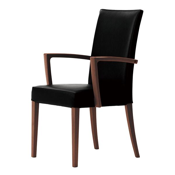 椅子 メルカW 1N(張地レザー:ブラック) 【メイチョー】