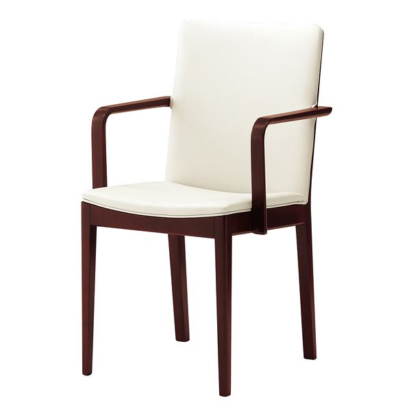 椅子 セラックW 1N(張地レザー:ホワイト) 【メイチョー】