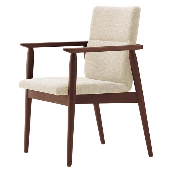 椅子 マルト 1N(布地:アイボリー) 【メイチョー】
