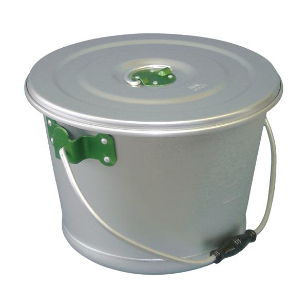アルマイト色別食缶 硫酸シルバー 10l(緑) 【メイチョー】